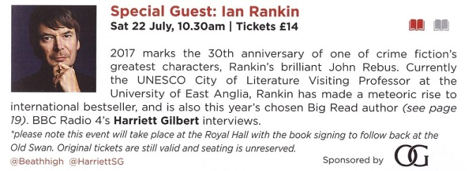 Ian Rankin Royal Hall