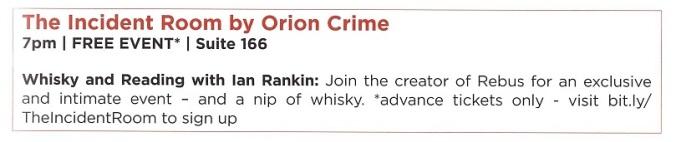 Ian Rankin Whisky