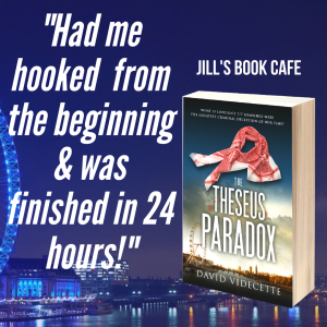 TTP Jills Book Cafe review quote on blue