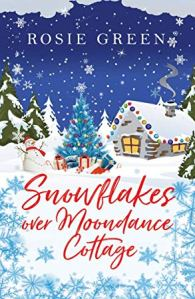 Snowflakes over Moondance Cottage
